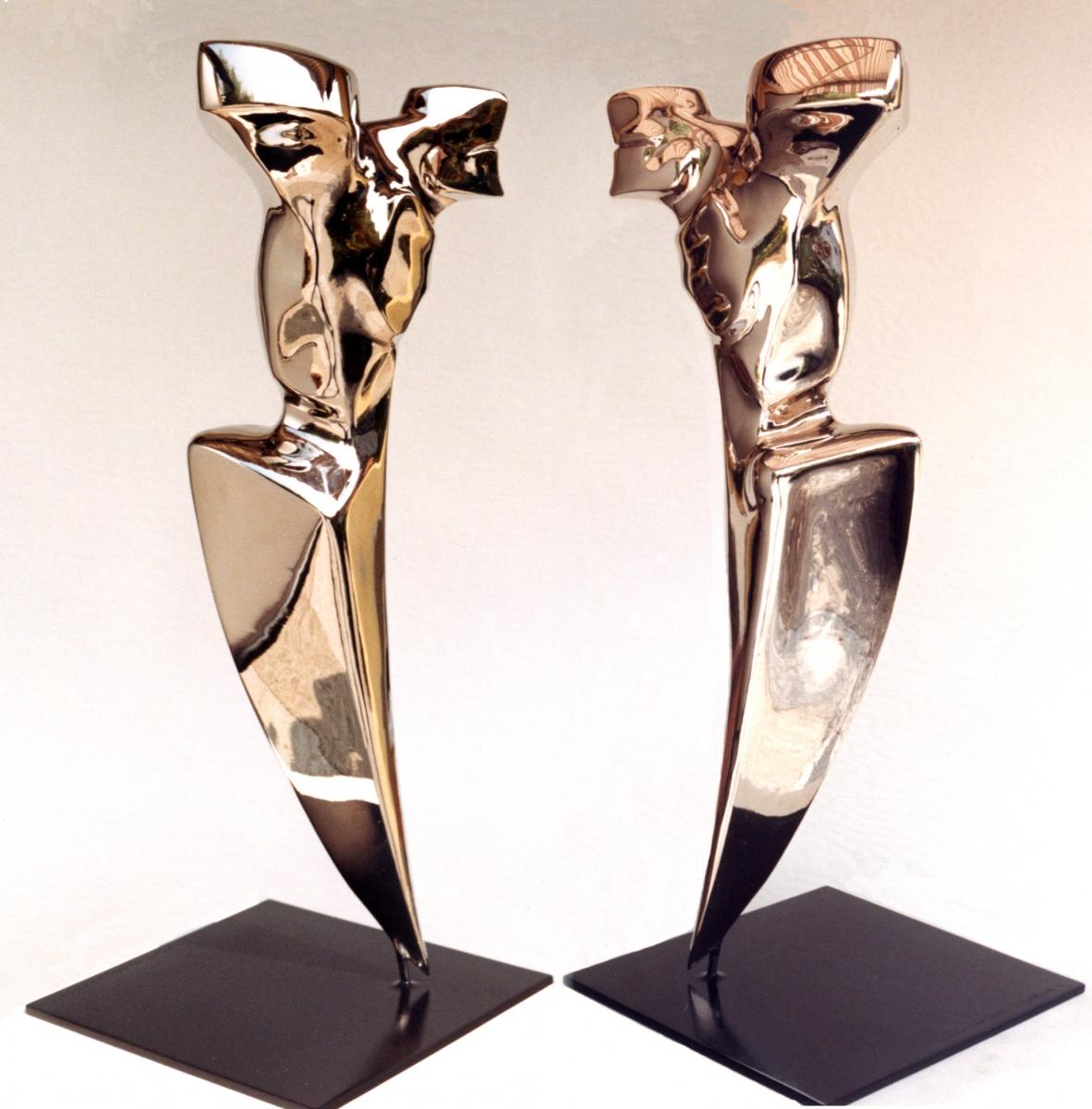 ANGELO VENDICATORE- Bronzo nichelato-80x40x40- 1996