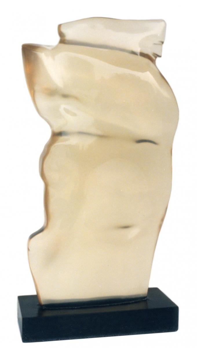CORPO e ANIMA- resina trasparente-cm 45x20x10-1997