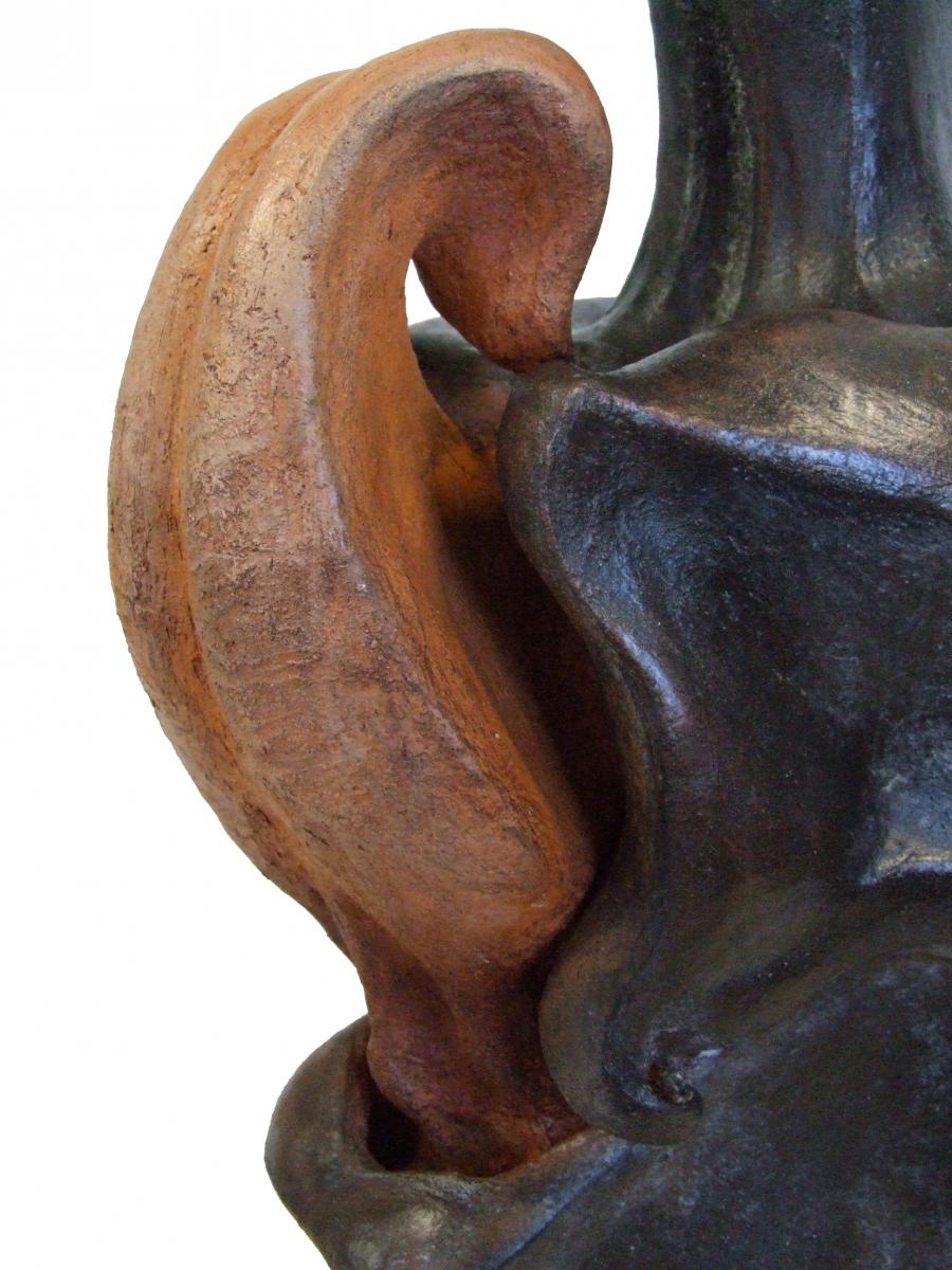 RELIQUIARIO- Terracotta e biella- particolare-2014