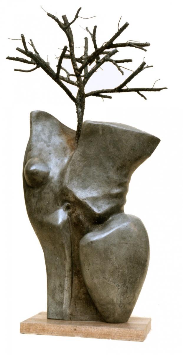 SPIRITI INNAMORATI- cemento e ferro-cm 85x38x38-1997