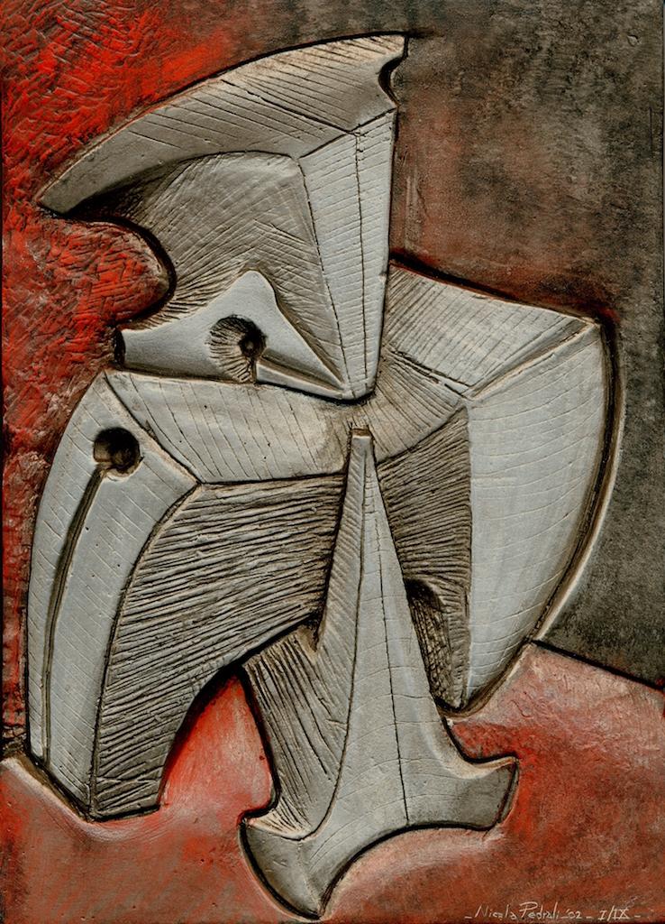 Studio per Morsa- alluminio patinato- 25x35- 2003