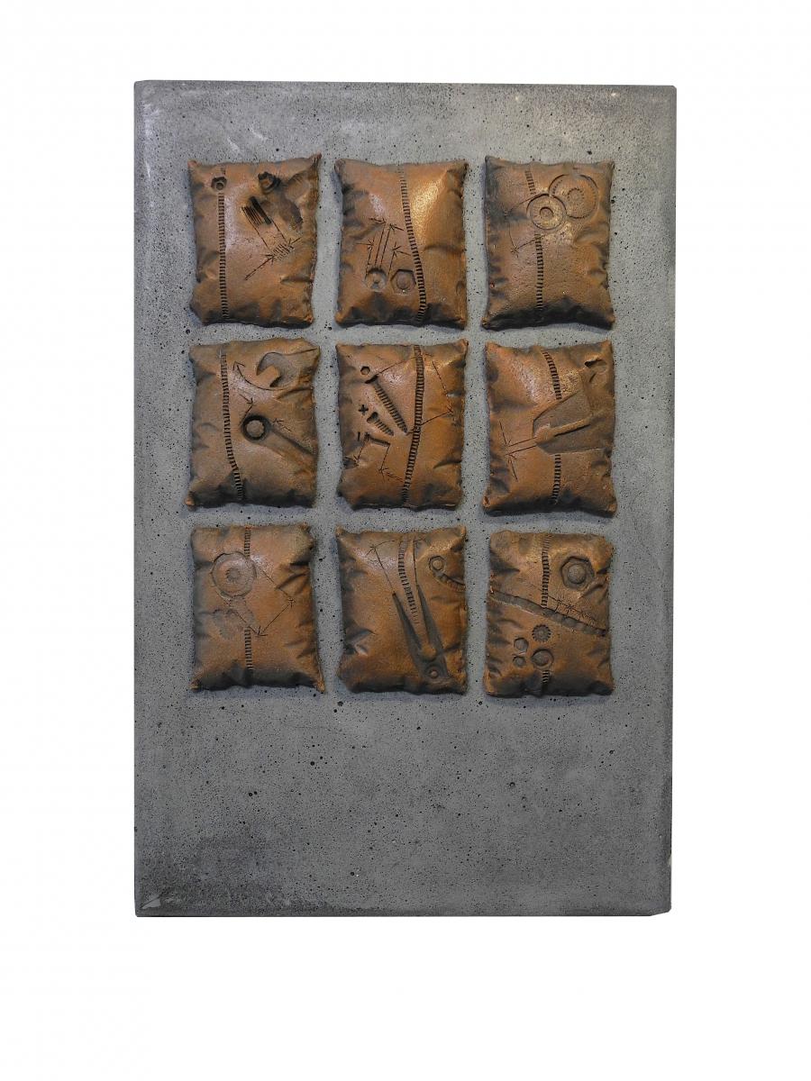 frammenti di un sogno 2- cemento , terracotta - 2017 -fronte