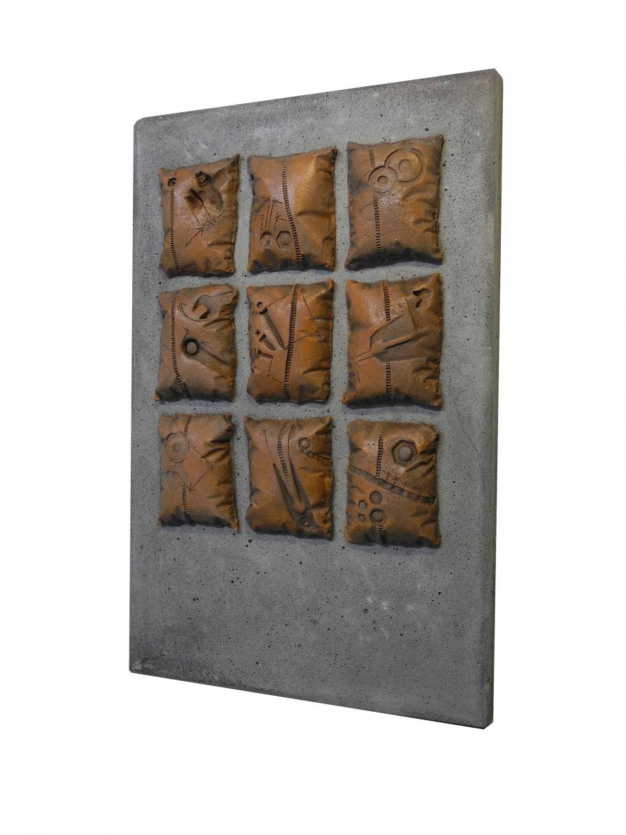 frammenti di un sogno 2- cemento , terracotta - 2017 -scorcio b